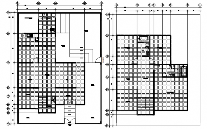 House ground and first floor layout plan cad drawing details dwg file