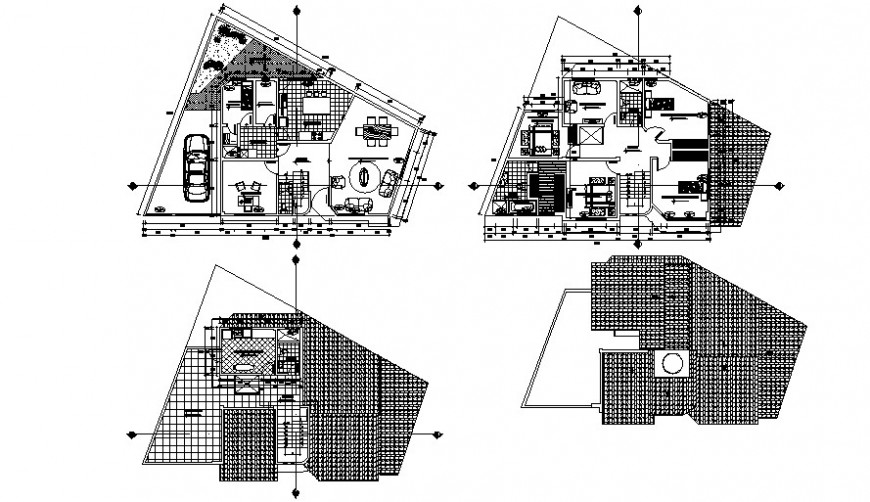 House ground and first floor with structure drawing details dwg file