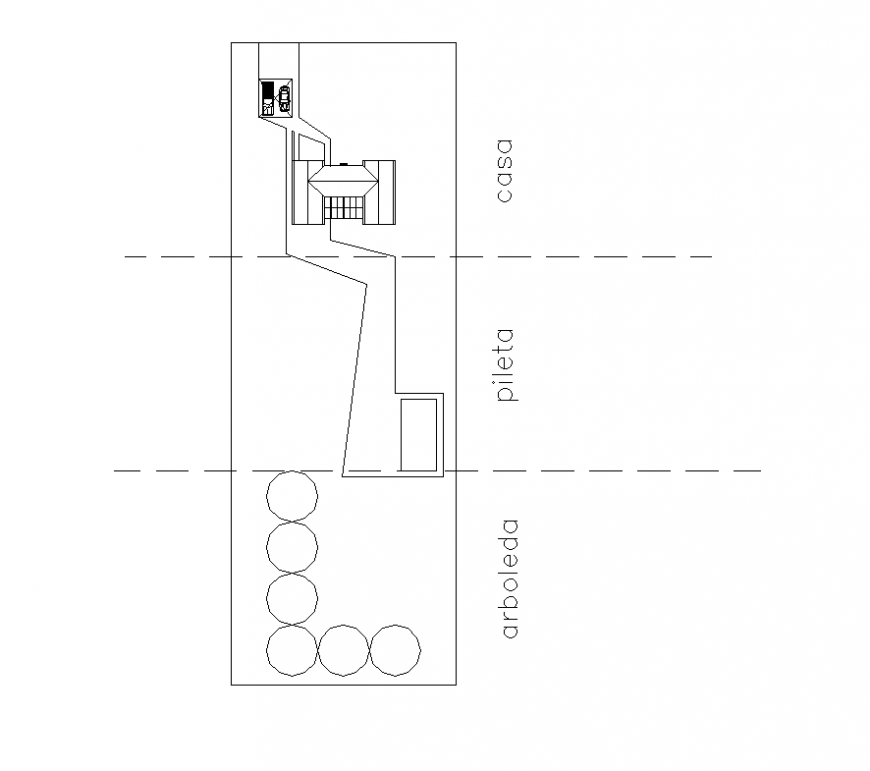 House in country club layout 2d view autocad file
