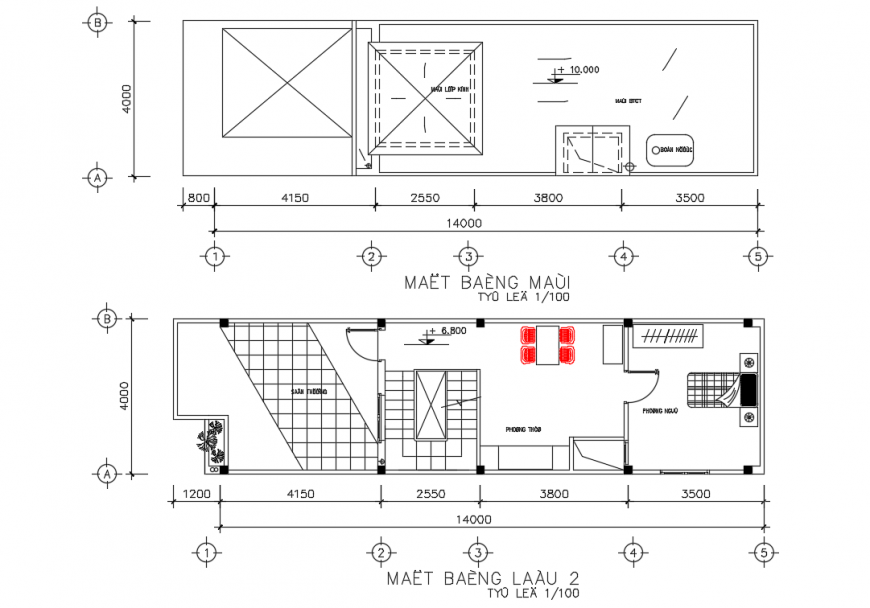 House Lay-out design detail with dimension