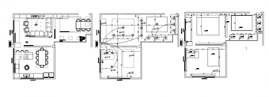 House layout plan, electrical installation and structure cad drawing details dwg file