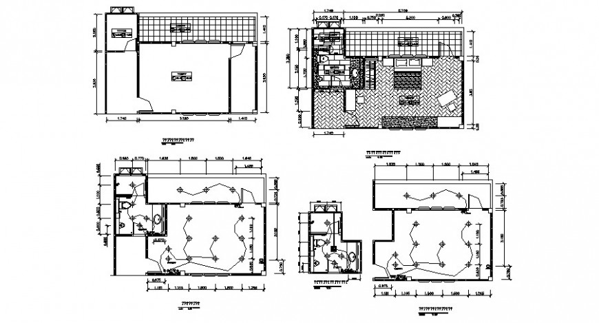 House layout plan and electrical installation layout plan details dwg file