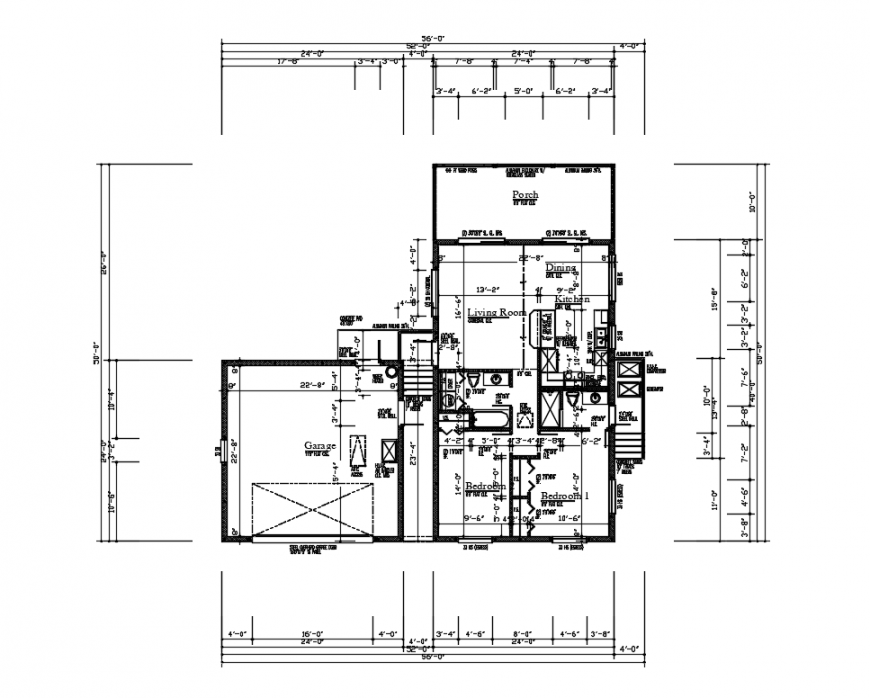 House layout plan and framing plan cad drawing details dwg file