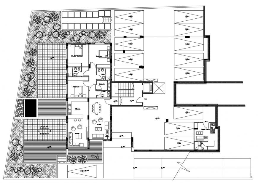 House layout plan detail 2d view autocad file