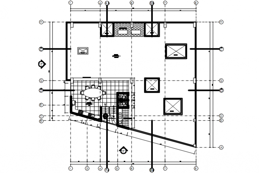 House layout plan drawing details for apartment building dwg file
