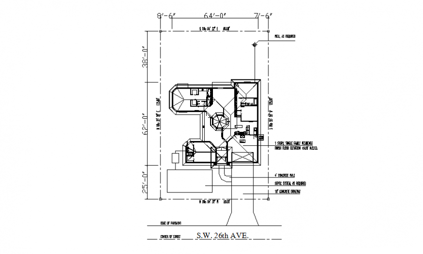House line plan layout file