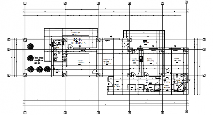 House of apartment building distribution plan cad drawing details dwg file