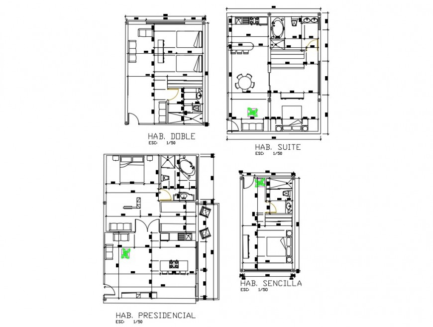 House plan 2d view CAD construction block layout file in autocad format