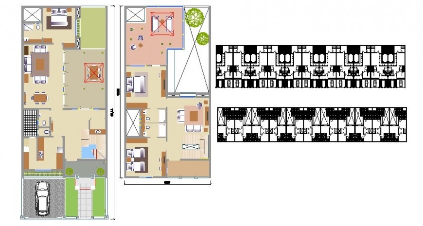 House plan drawing details 2d view autocad file