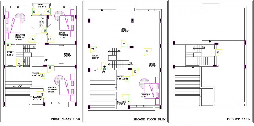 House plan structure detail 2d view CAD block layout file in autocad format