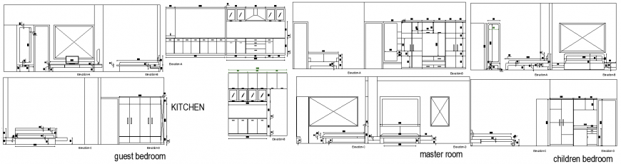House plan with furnished detailing of a dwg file.