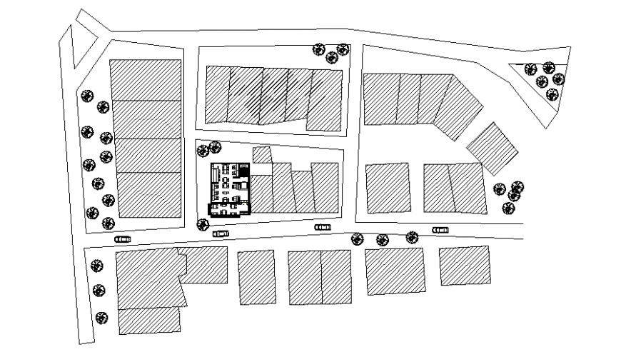 House Plotting detail drawing in dwg file.
