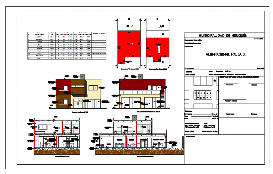 House Section & Elevation & other detail