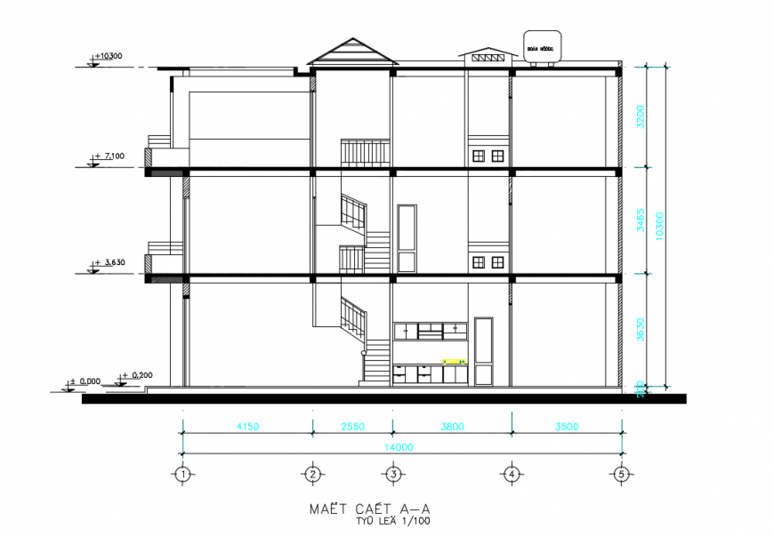 House Section detail in DWG file