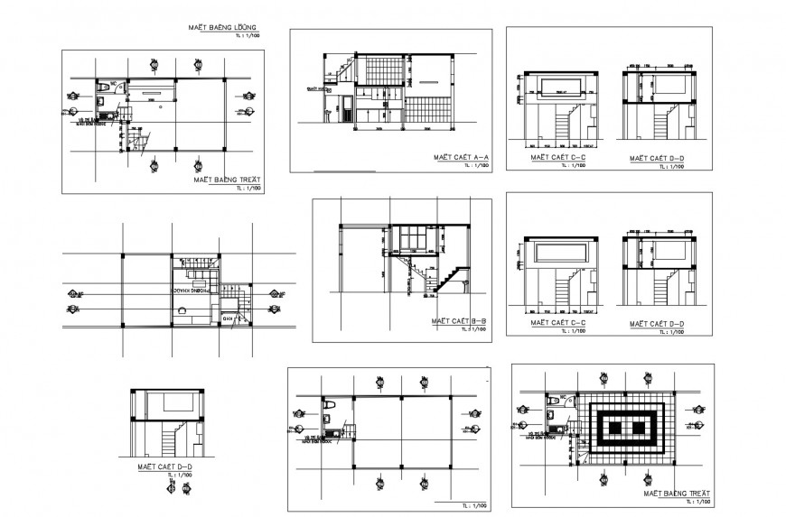 House single family section and sanitary installation cad drawing details dwg file