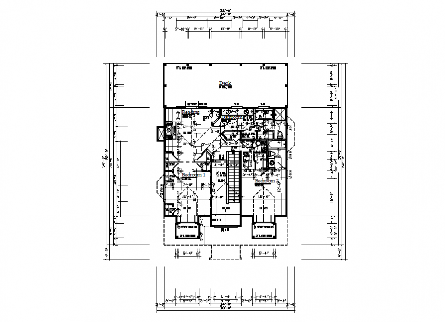 House single floor framing plan cad drawing details dwg file