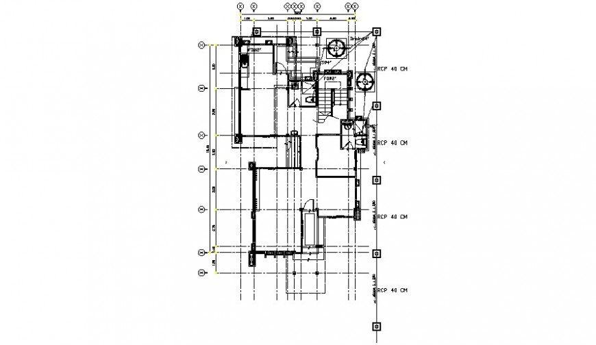 House single floor framing plan structure drawing details dwg file