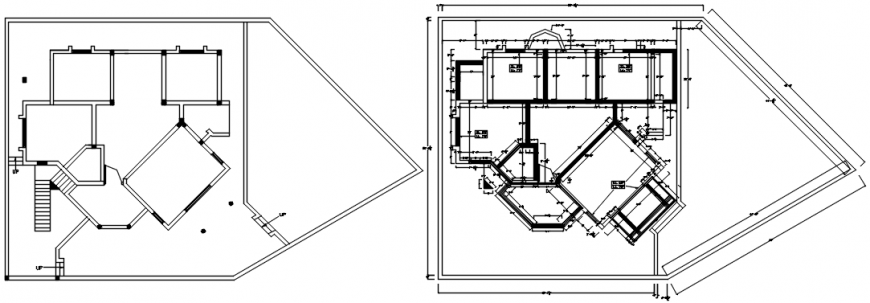 House single floor plan and framing plan details dwg file