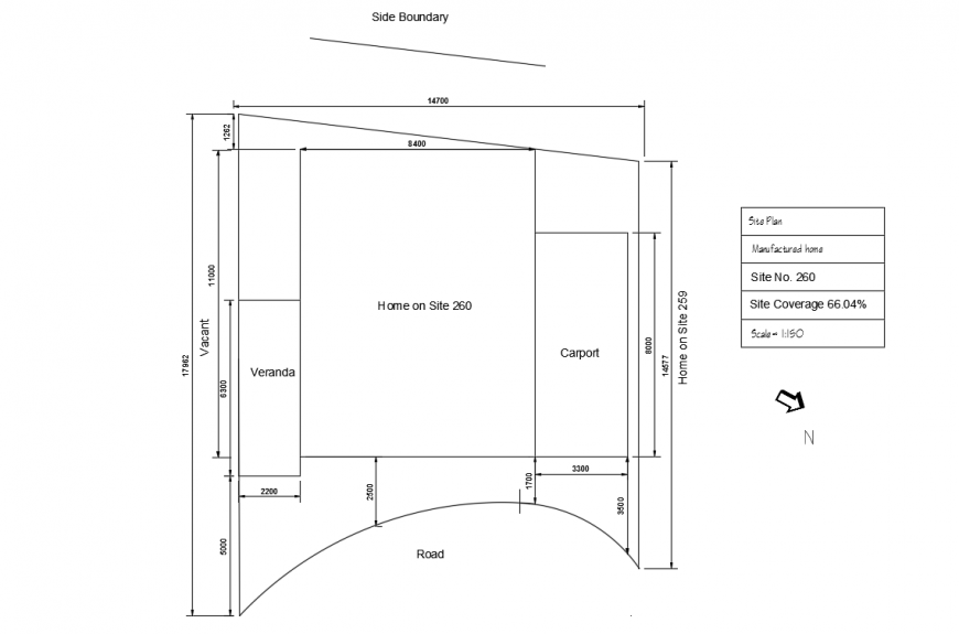 House site plot lay-out detail