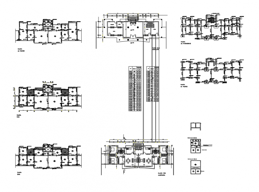 House structure model foundation plan, layout plan and auto-cad details dwg file