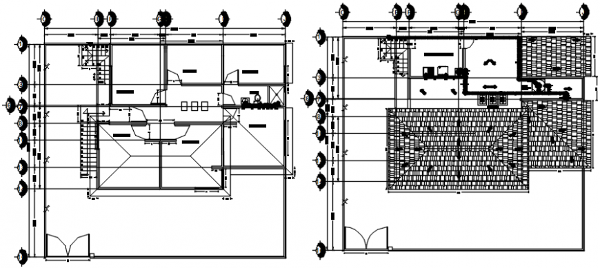 House two floors sanitary installation details dwg file
