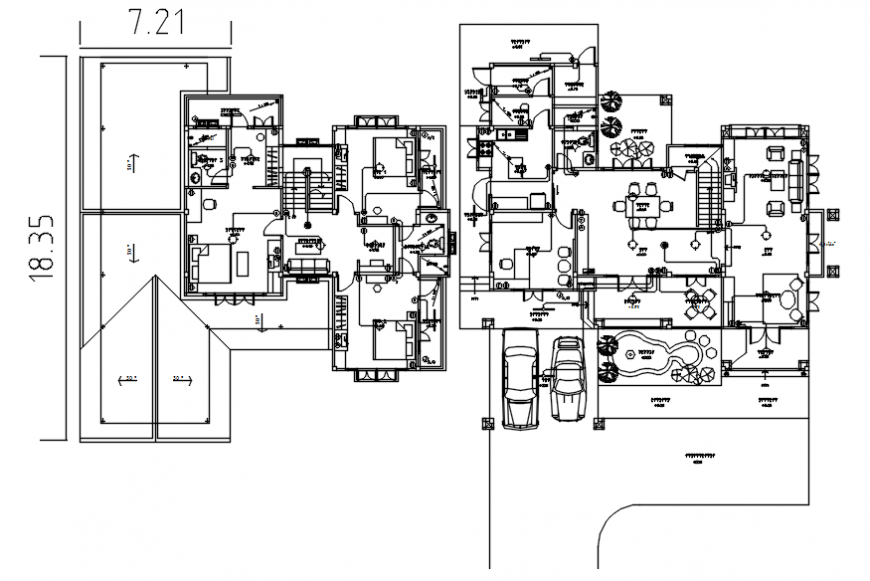 Housing apartment detailing drawings 2d view plan in autocad software file