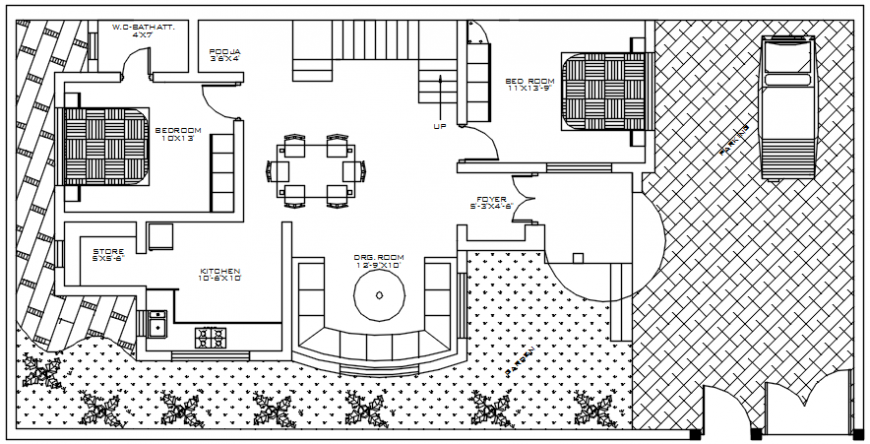 Housing apartment drawings 2d view floor layout autocad software file