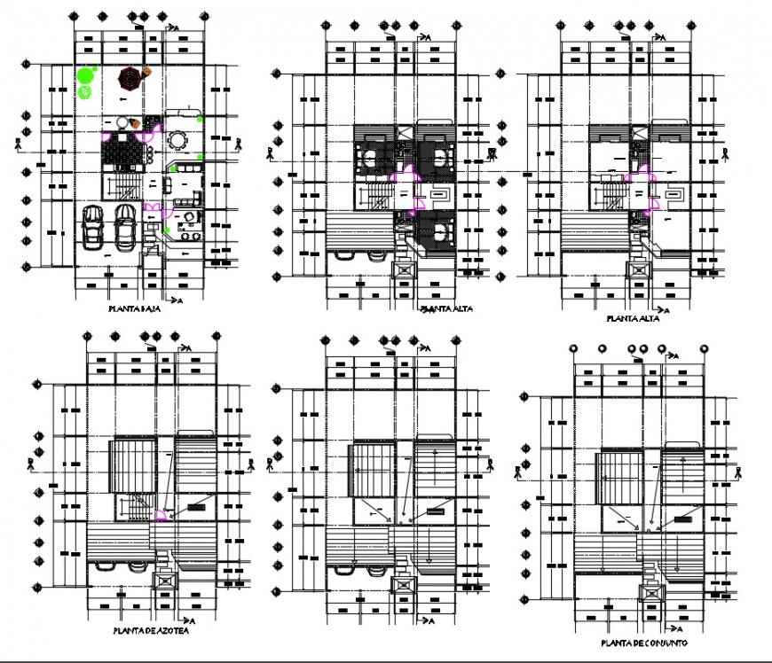 Housing apartment drawings detail 2d view layout dteials in autocad file