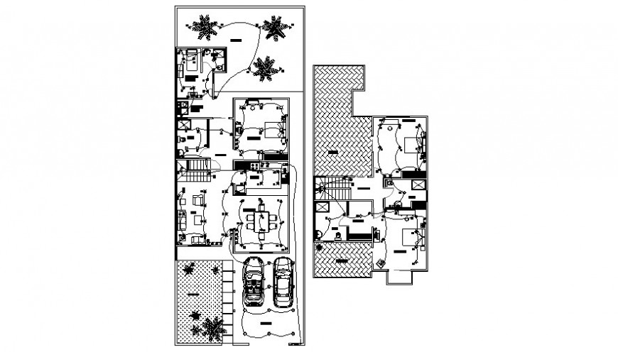 Housing apartment layout details electrical blocks autocad file