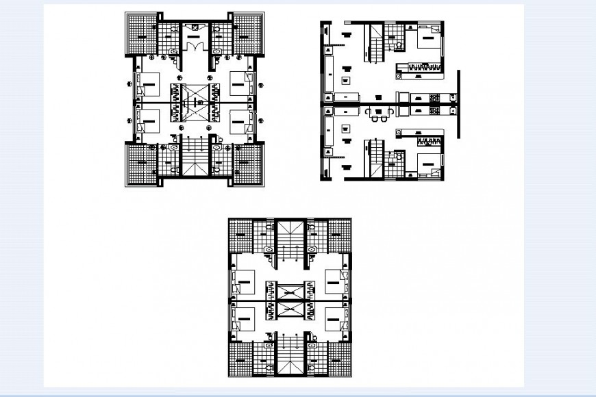 Housing area floor plan in auto cad software