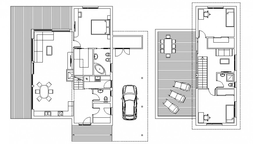 Housing blocks details work plan drawing 2d view in autocad