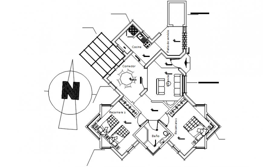 Housing blocks drawing details 2d view layout floor plan dwg file