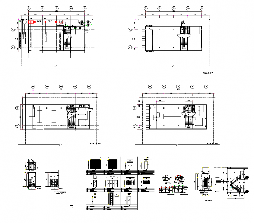 Housing building plan layout AutoCAD file