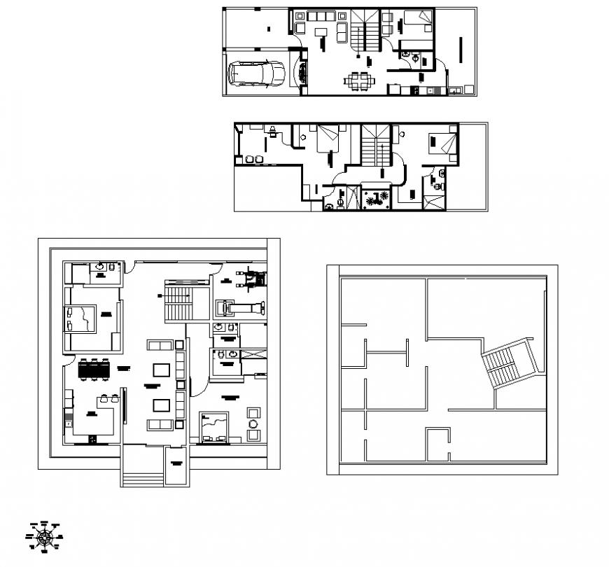 Housing building detail elevation 2d view autocad file