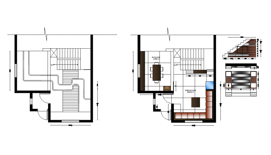 Housing building detail plan layout autocad file
