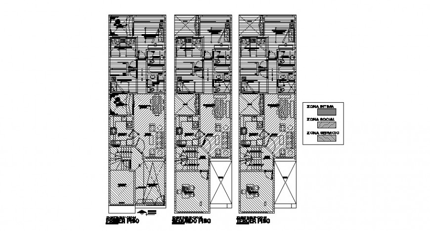 Housing drawings 2d view floor plan in autocad file