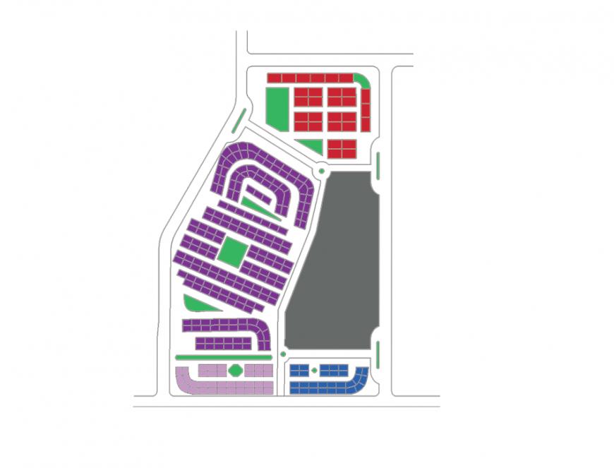 Housing line plan layout file