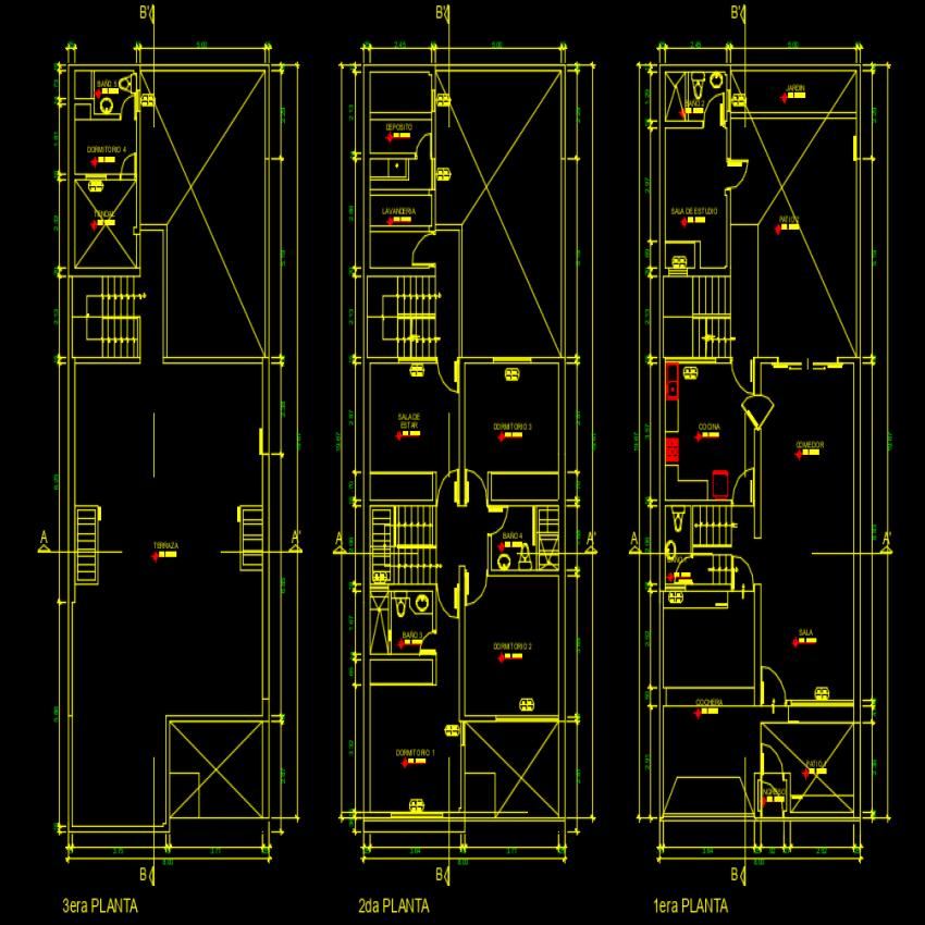 Housing plan autocad file