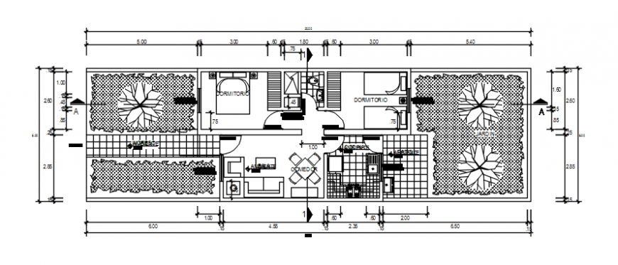 Housing plan file of auto cad