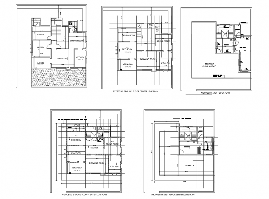 Housing plan in auto cad software