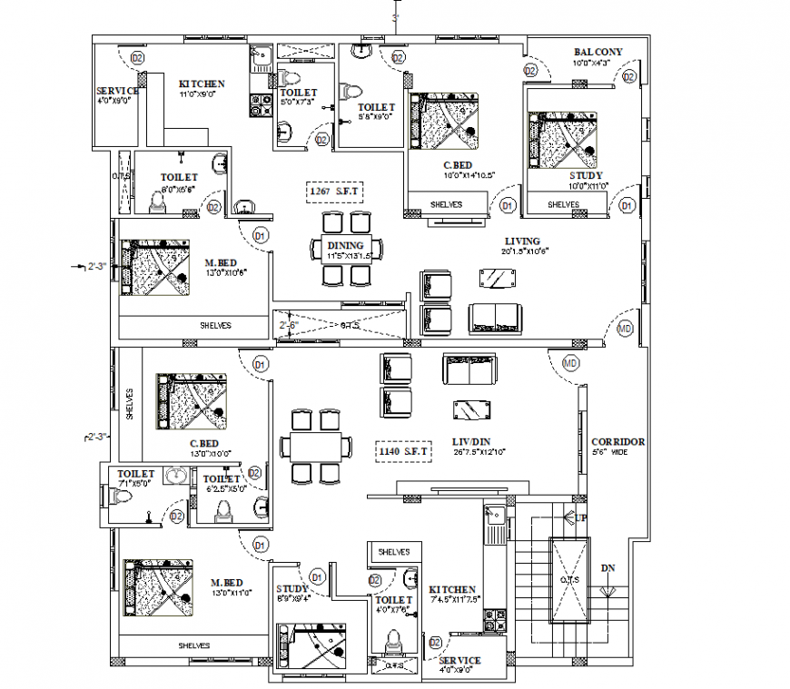 Housing planning autocad file