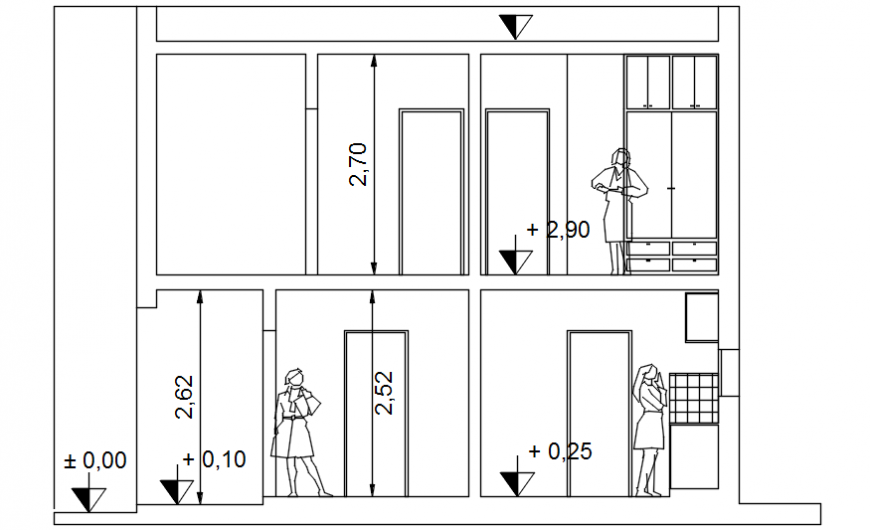 Housing project section A-A cad file