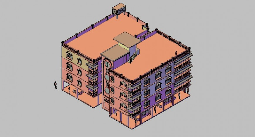 Housing society 3d drawing in skp file.