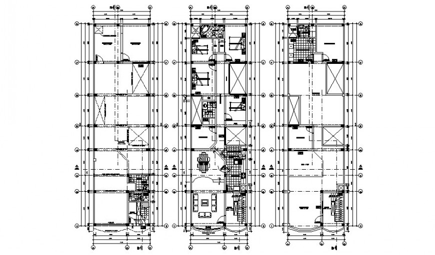 Housing units apartment drawings detail 2d  view autocad file