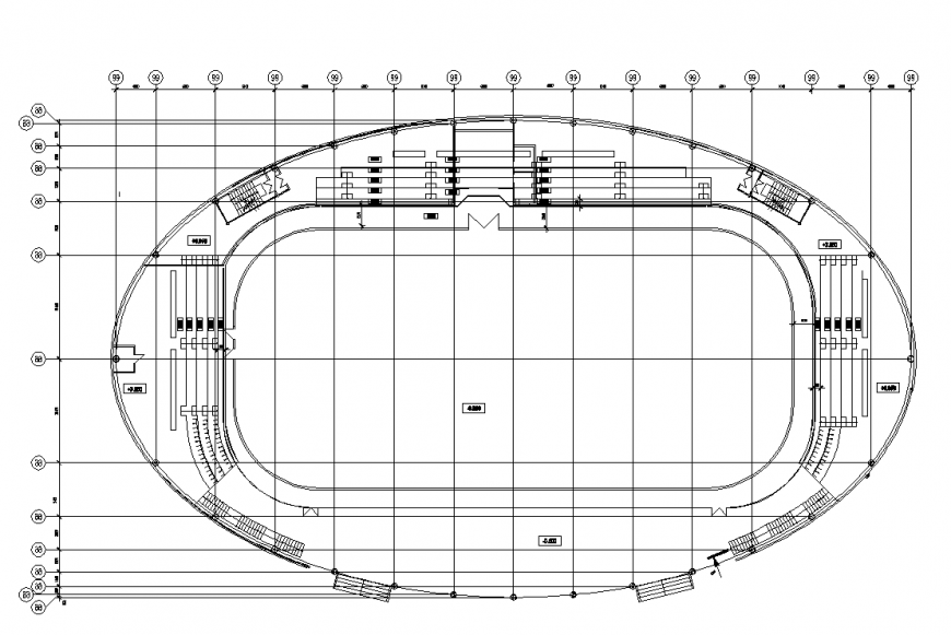 Ice skating ground detail elevation layout 2d view plan dwg file