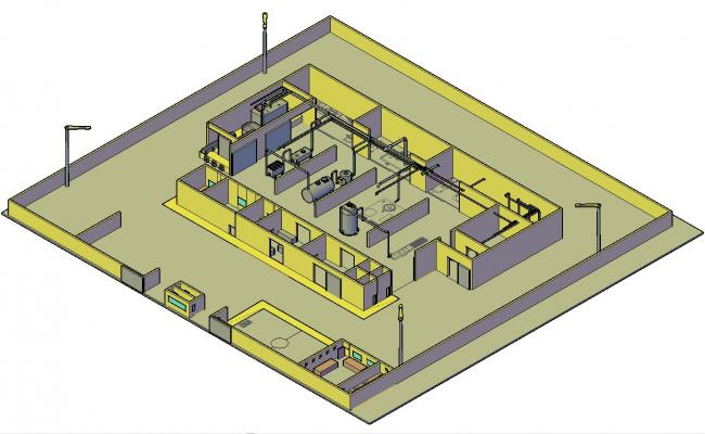 industrial plant layout 3d design