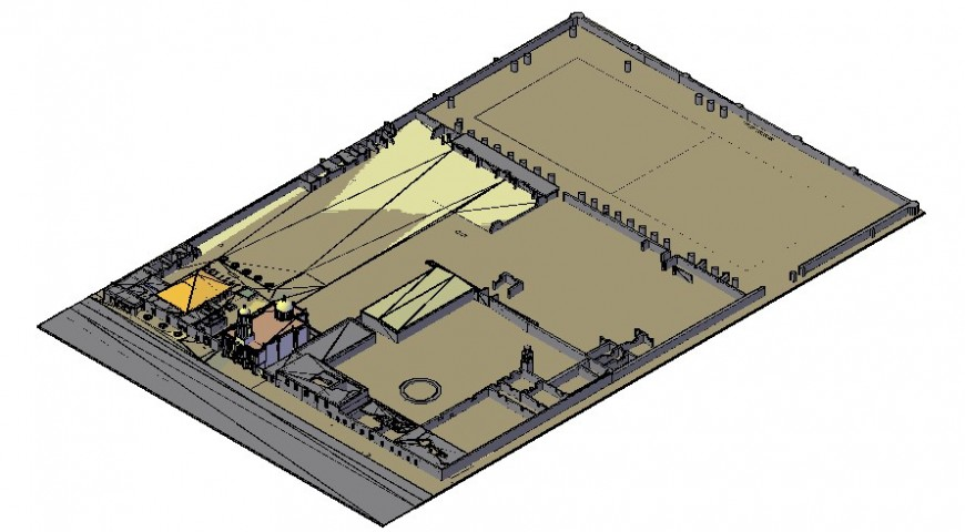 Industrial building area drawings 3d model autocad software file