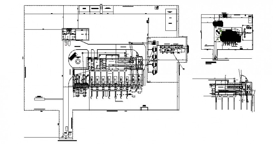 Industrial building units detail working plan drawing in autocad format