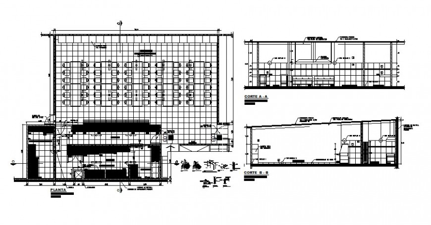 Industrial kitchen area drawings details plan and section autocad file