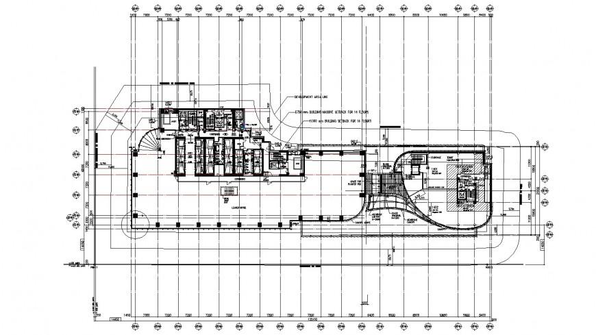 Industrial plant building floor distribution plan drawing details dwg file